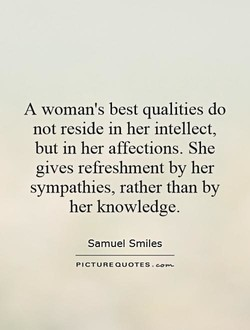 A woman's best qualities do 