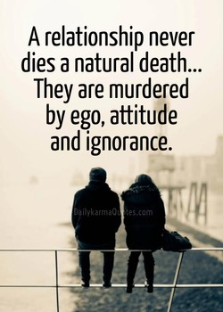 A relationship never 