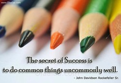 The secret Success is 