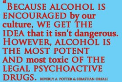 BECAUSE ALCOHOL IS 
