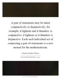 A pair of statements may be taken 