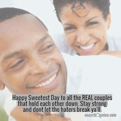 Happy Sweetest Da to all the REAL couple 