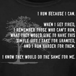 I RUN BECAUSE I CAN. 