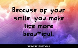 Because OF your 
