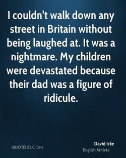 I couldn't walk down any 