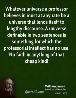 Whatever universe a professor 
