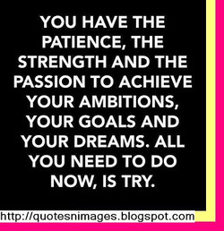 YOU HAVE THE 