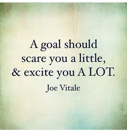 A goal should 