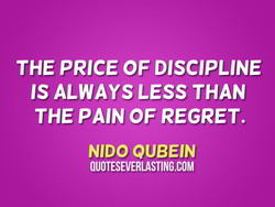 THE PRICE OF DISCIPLINE 