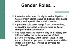 Gender Roles 