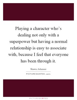 Playing a character who's 