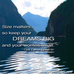 Size matters. . 