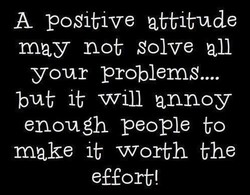 A positive attitude 