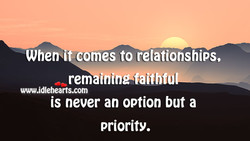 Whetbl omes to relationships. 