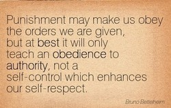 Punishment may make us obey 