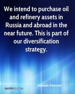 We intend to purchase oil 