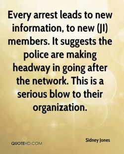 Every arrest leads to new 