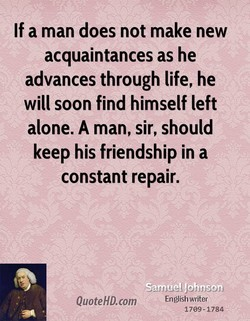 If a man does not make new 
