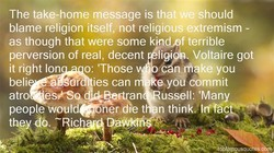 The take-home message is that we should 