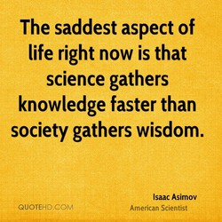 The saddest aspect of 