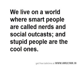 We live on a world 