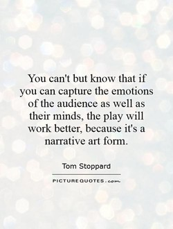 You can't but know that if 