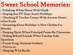 Sweet School Memories: 