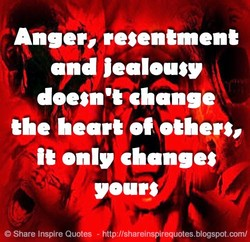 Anger, resentment 
