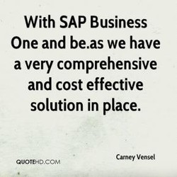 With SAP Business 