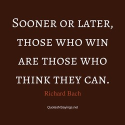 SOONER OR LATER, 