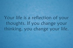Your life is a reflection of your 