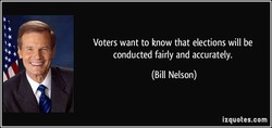 Voters want to know that elections will be 