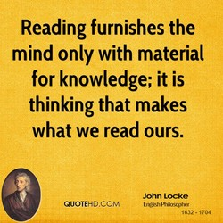 Reading furnishes the 
