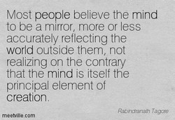 Most people believe the mind 