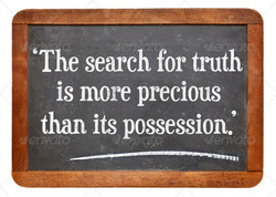'The search for truth 