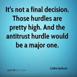 It's not a final decision. 