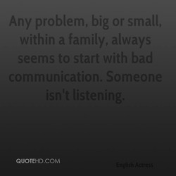 Any problem, big or small, 