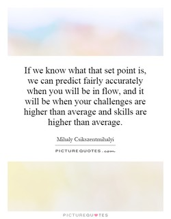 If we know what that set point is, 