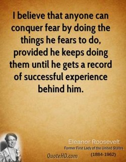 I believe that anyone can 