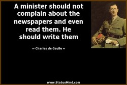 A minister should not 