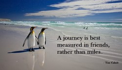 A journey is best 