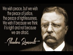 We wÉh peace, but we wish 