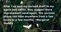 After 've sent my revised draft to my 