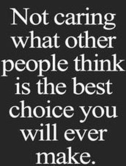 Not caring 