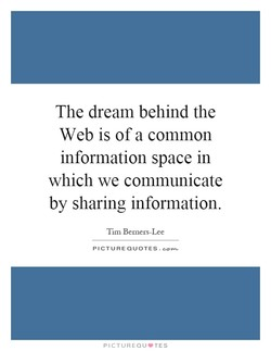 The dream behind the 