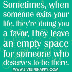 Sometimes, when 