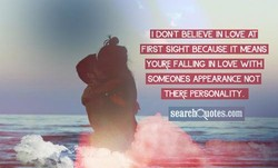 DONT BELIEVE IN LOVE AT 