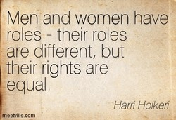 Men and women have 