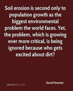 Soil erosion is second only to 
