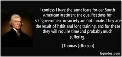 I confess I have the same fears for our South 